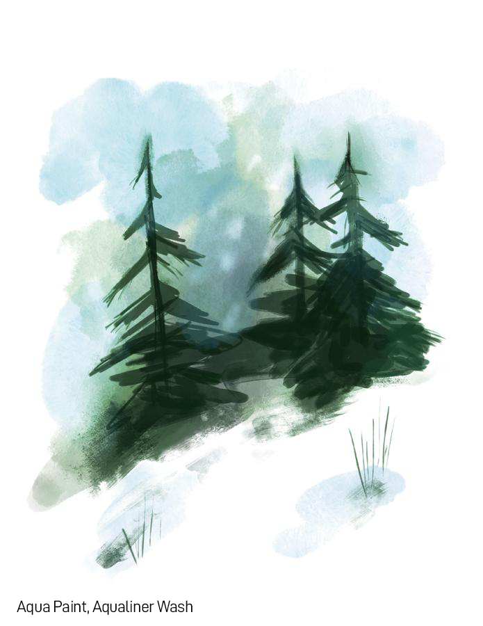 SketchBox Art Brushes for Procreate Watercolor Brush Example