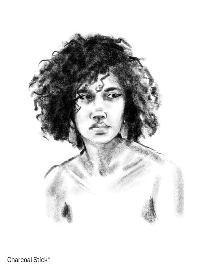 SketchBox Art Brushes for Procreate Charcoal Brush Portrait Study