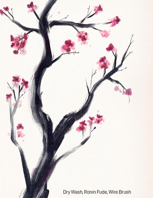 Samurai Ink Brushes for Procreate Bianca Sumi Example 2