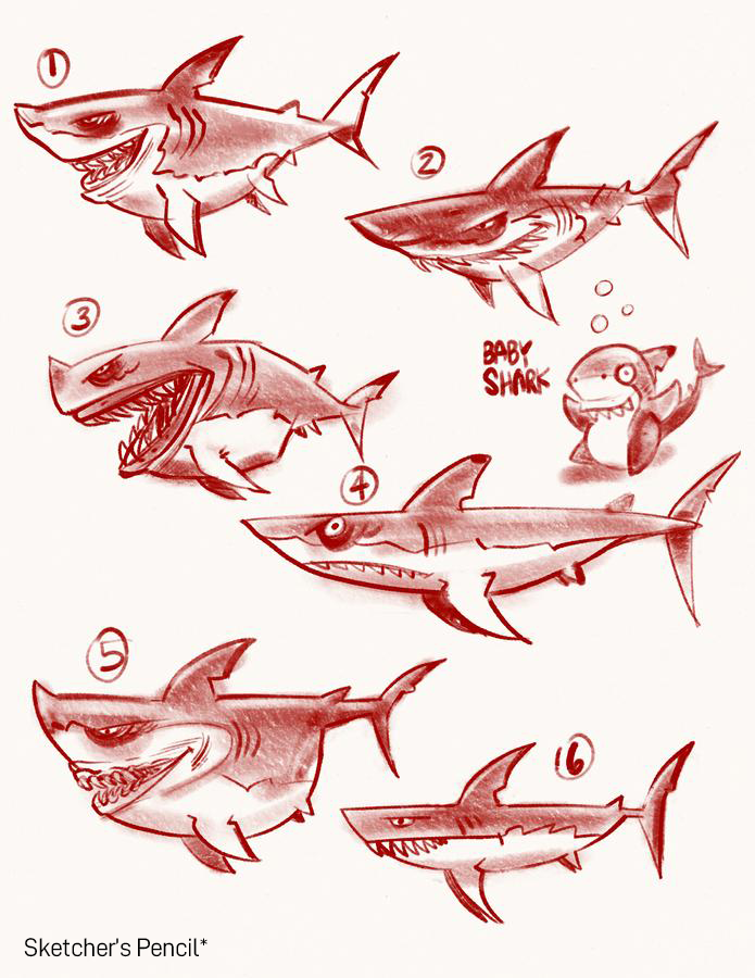 SketchBox Art Brushes for Procreate Sketcher's Pencil Example