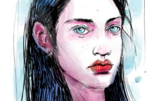 Portrait Watercolor SketchBox Procreate Free Brush Pack Sample
