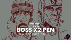 Free Procreate Brush: Boss X2 Pen by Ink Gang Boss