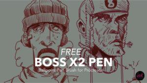 Free Procreate Brush: Boss X2 Pen by Ink Gang Boss