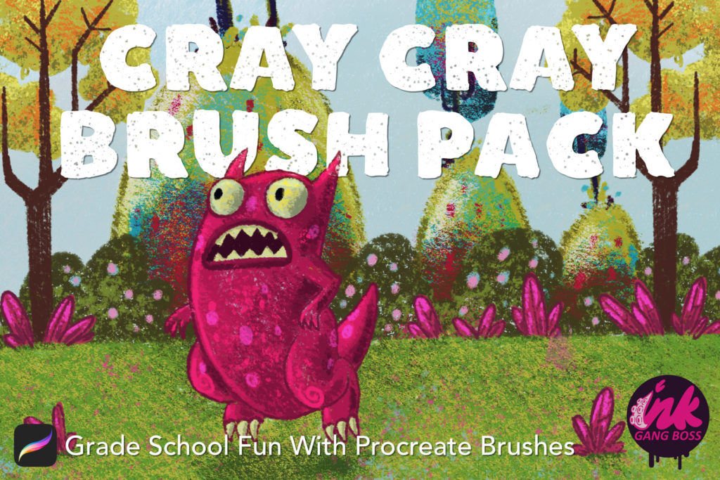 Crayon Brush Pack For Procreate