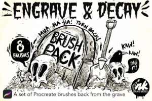Engrave & Decay Brush Pack for Procreate Cover Image