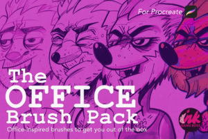 The Office Brush Pack For Procreate Cover