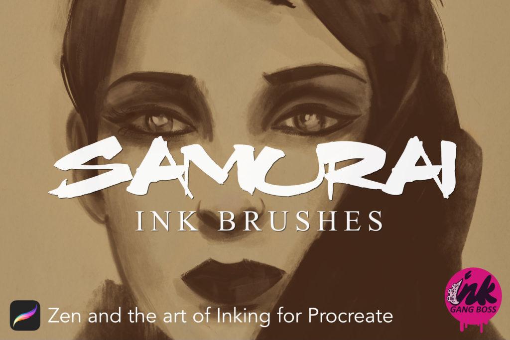 Samurai Ink Brushes for Procreate : Procreate Brushes & Tools