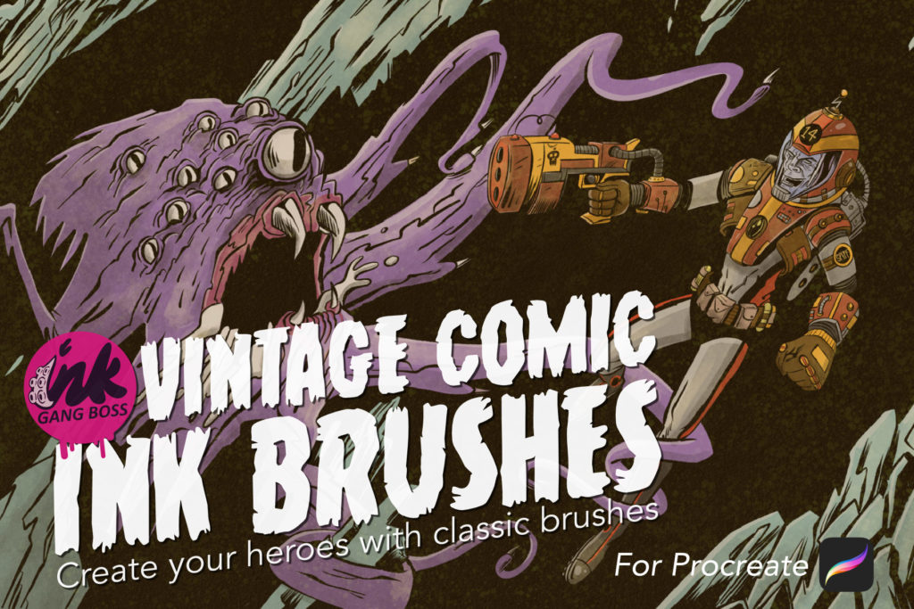 Vintage Comic Ink Brushes for Procreate