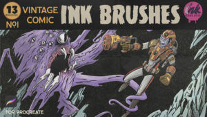 Vintage Comic Ink Brushes Cover